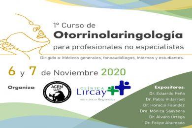 PRIMER CURSO DE OTORRINOLARINGOLOGÍA